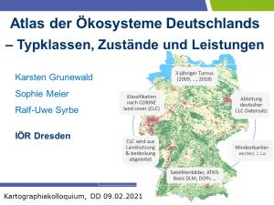 Vortrag: Atlas der Ökosysteme Deutschlands – Typklassen, Zustände und Leistungen @ dgfk-dresden.de